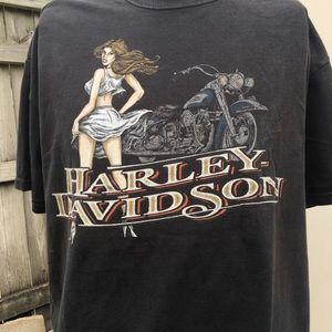 Vintage Harley Davidson Men's Black 2X T-shirt